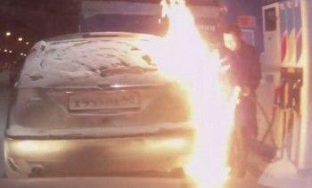 Устроившую огненное шоу на автозаправке уроженку Нижнего Тагила привлекли к административной ответственности