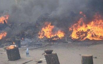 В Донецке взорвался завод химических изделий (ВИДЕО)