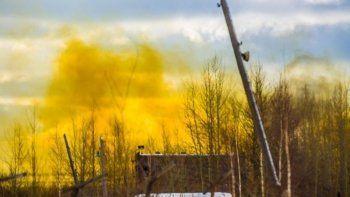 В Красноуральске горел химический завод, производивший взрывчатку (ВИДЕО, ФОТО)