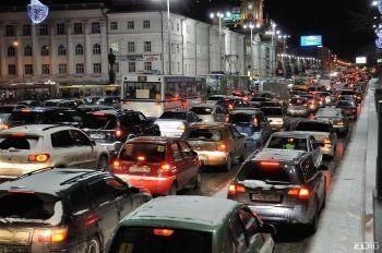 Екатеринбург попал в антирейтинг по количеству автомобильных пробок