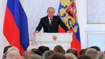 Путин впервые может обратиться с посланием Федеральному собранию не из Кремля