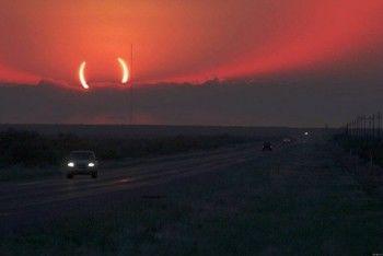 Как земляне следили за солнечным затмением: впечатления, фото и шутки в интернете