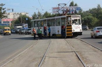 Wi-Fi трамвай «завис» на улице Фрунзе
