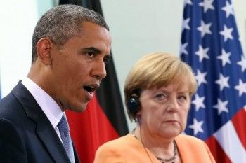 Меркель и Обама решили не ослаблять антироссийские санкции