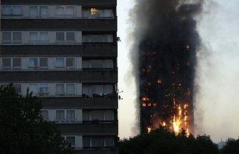 В Лондоне во время сильнейшего пожара в жилой многоэтажке погибли 12 человек