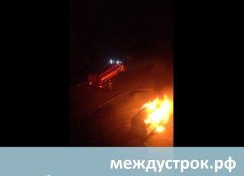 Пассажирская ГАЗель  выгорела дотла (ВИДЕО)