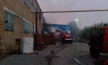 В Свердловской области сгорел целлюлозно-бумажный завод