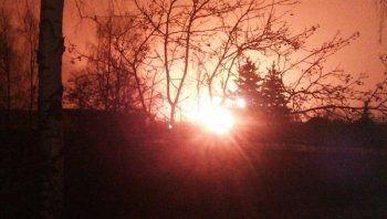 В Подмосковье загорелся участок магистрального газопровода (ВИДЕО)
