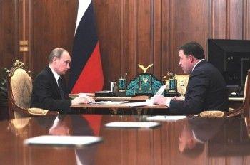 Куйвашев рассказал Путину об экологических проблемах Свердловской области