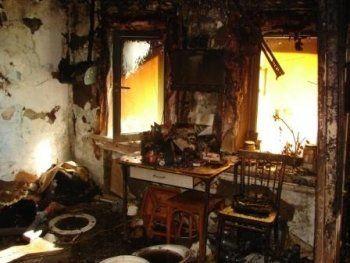 В частном доме под Нижним Тагилом сгорел пенсионер-инвалид