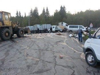Авария из пяти автомобилей под Нижним Тагилом (ФОТО)