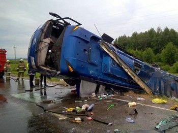 У попавших в аварию под Хабаровском автобусов были проблемы с ремнями безопасности