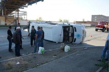 В Нижнем Тагиле МАЗ протаранил микроавтобус. Один пассажир погиб, десять получили травмы