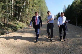 Евгений Куйвашев проверил ремонт дороги до Серебрянки и открыл пожарное депо