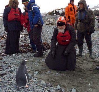 Патриарх Кирилл пообщался в Антарктиде с пингвинами и помолился о земном шаре в храме, иконы для которого сделал тагильчанин