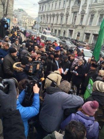 Дальнобойщики пикетировали администрацию президента