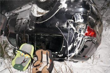 В аварии на Серовском тракте пострадал трехмесячный младенец