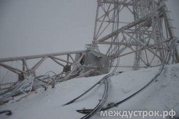 «К счастью, пострадавших нет». На Горе Белой рухнула башня сотовой связи (ФОТО, ВИДЕО)
