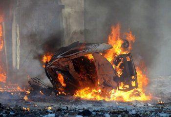 Появилось первое видео с места теракта в Дагестане