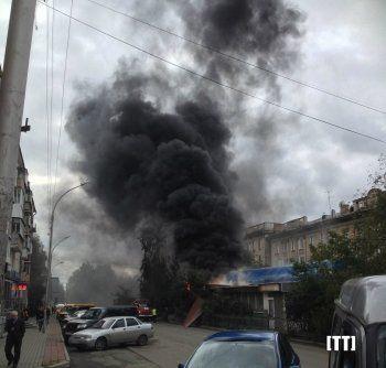 Сгорел «Зелёный бульвар» (ФОТОФАКТ)