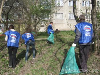 В Нижнем Тагиле депутаты от «Единой России» провели субботник без грабель и мётел