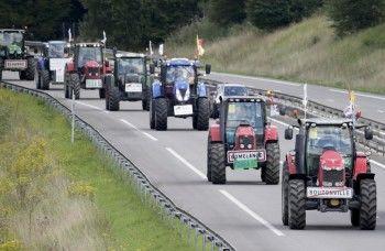 Тысячи протестующих фермеров вывели тракторы на улицы Парижа (ВИДЕО)