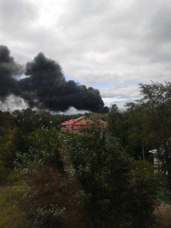 В Нижнем Тагиле горит нефтебаза «Газпромнефть»