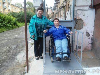 В Нижнем Тагиле установили первый персональный электроподъёмник для инвалидов