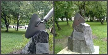 В Нижнем Тагиле вандалы сломали скульптуру в честь строителей