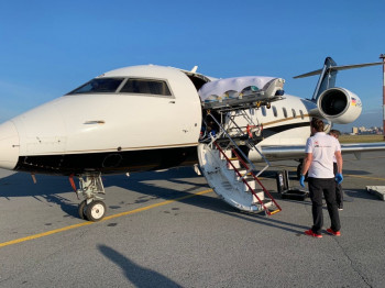 Самолёт с Алексеем Навальным вылетел в Германию