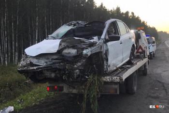 Под Первоуральском водитель Volkswagen погиб в ДТП с лосем
