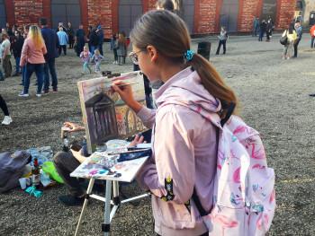 6 часов работы и 100 художников. Гости «Демидов-феста» написали коллективный пейзаж