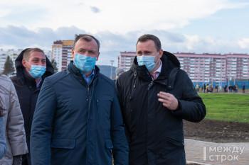 Свердловский вице-губернатор Алексей Орлов открыл первый экопарк в городе и оценил работу мэра Владислава Пинаева за 2 года