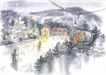Екатеринбургская художница разрабатывает серию иллюстраций с видами Белой, Усть-Утки и Висима