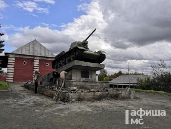 Постамент под Т-34 в центре Нижнего Тагила отремонтируют до конца года на деньги спонсора