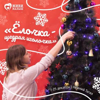 В преддверии Нового года нижнетагильский фонд «Живи, малыш» запустил благотворительную акцию «Ёлочка — щедрая иголочка»