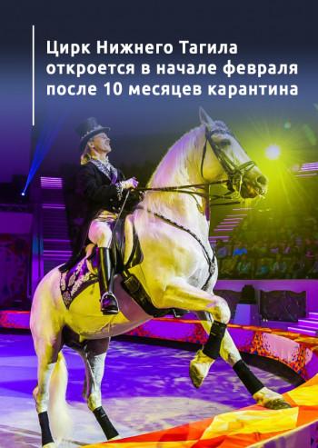 Цирк Нижнего Тагила откроется в начале февраля после 10 месяцев карантина