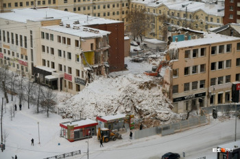 В Екатеринбурге прокуратура начала проверку из-за возобновленияработпо сносу ПРОМЭКТа