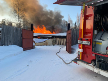 В столярной мастерской Нижнего Тагила произошёл пожар
