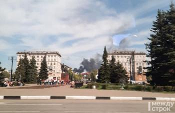 В Нижнем Тагиле на территории Коксохима произошёл пожар