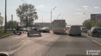 Из-за ДТП с автобусом на Восточном шоссе в Нижнем Тагиле образовалась пробка