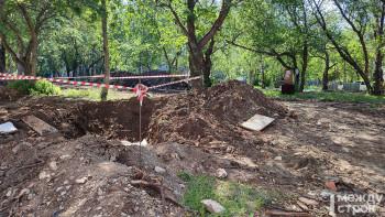 «Надо эксгумировать останки и искать родственников Демидовых». В Нижнем Тагиле строители сквера возле ДК «Юбилейный» нашли захоронение XIX века