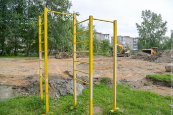 Возле школы № 13 в посёлке Северный началось строительство спортивной площадки