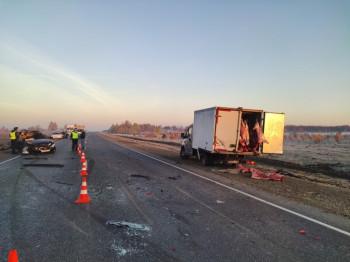 На трассе в Свердловской области водитель Subaru из-за тумана врезался в фургон, погибли два пассажира
