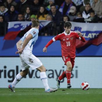 Сборная России по футболу победила Словению и вышла на первое место в группе (ВИДЕО)