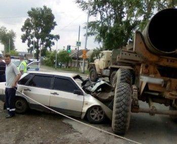 Очевидцы рассказали подробности аварии на въезде в Николо-Павловское