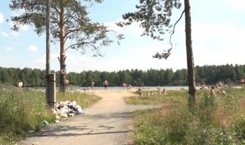 Прибрежную территорию Иван-озера очистили от мусора по поручению Владислава Пинаева