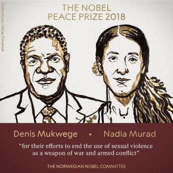 Нобелевскую премию мира вручилизаборьбу ссексуальным насилием ввооружённых конфликтах