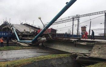 ВАмурской области обрушился мост, проходящий над Транссибирской магистралью (ВИДЕО)