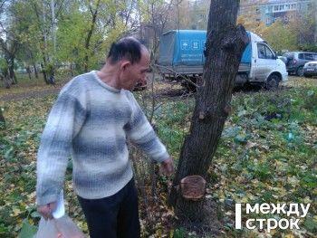 Журналист АН «Между строк» встретился с пенсионером из Нижнего Тагила, на которого возбудили уголовное дело за срубленную яблоню (ВИДЕО)